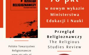 Przegląd Religioznawczy ma 70 pkt!