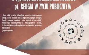 II Ogólnopolskie Seminarium Naukowe pt. RELIGIA W ŻYCIU PUBLICZNYM