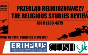 """40 pkt MNiSW – """"Przegląd Religioznawczy – The Religious Studies Review"""""""